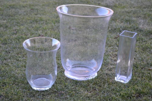Vázy - 4 ks, 1 ks velká, 4 ks hranaté